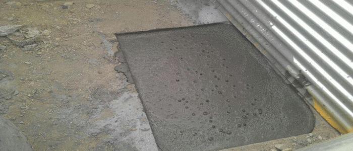 پر کردن حفرههای فاضلاب و تونلها با فوم بتن