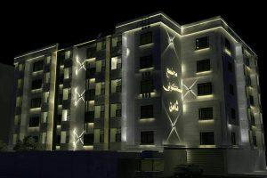 نور پردازی نما پروژه مجیدیه