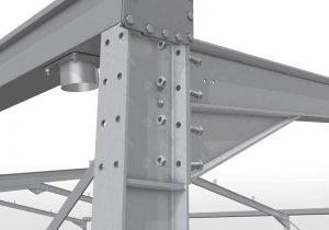 اجرای سازه های فولادی پیچ و مهره ای